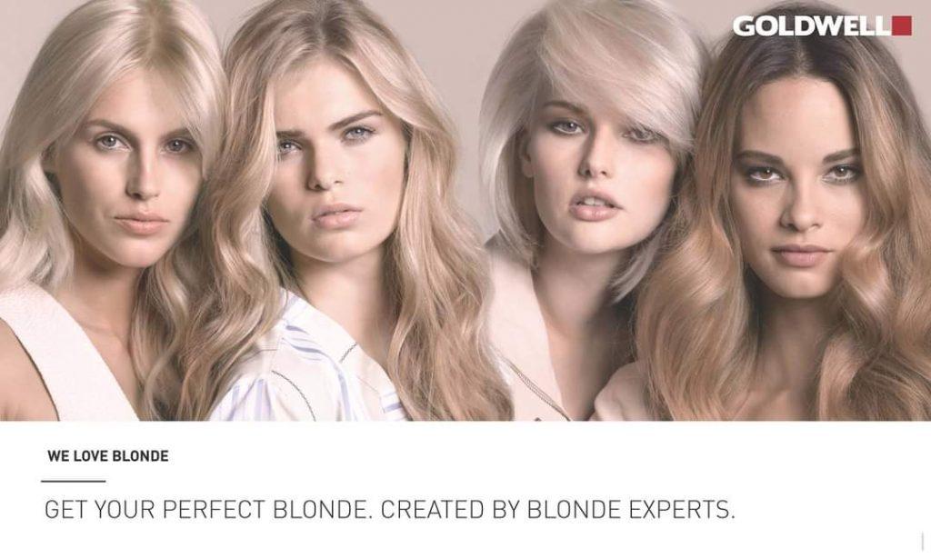 elumen goldwell kampaamo helsinki blondi hiusväri